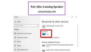 how to pair altec lansing speaker
