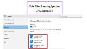 pair altec lansing speaker